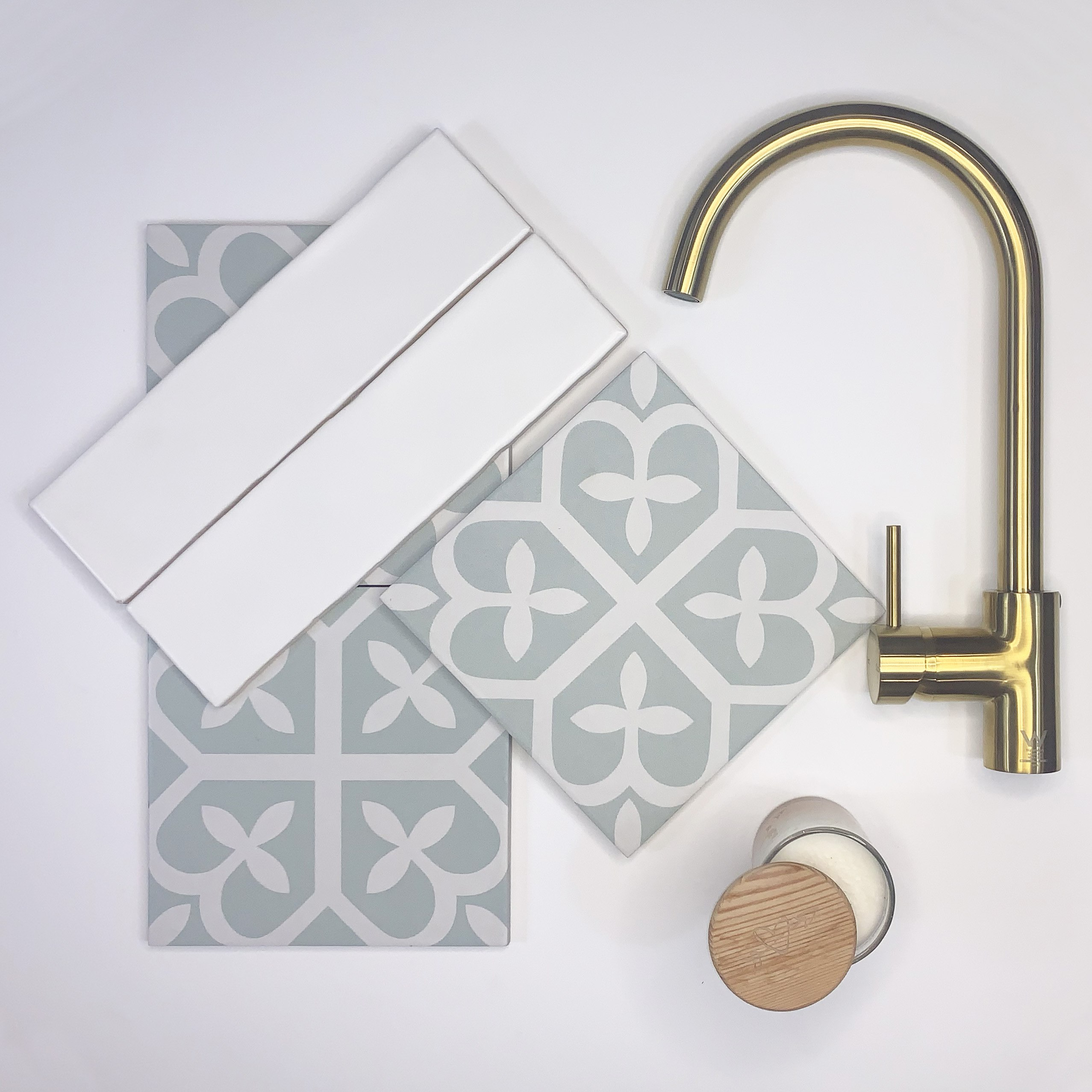 hamptons look tiles and taps